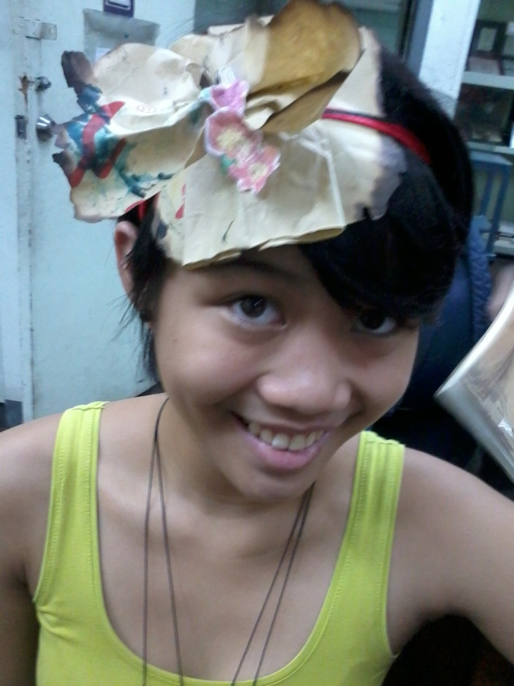 Head Accessory made from trash materials